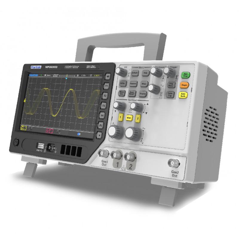 Hantek MPO6102D Osciloscopio de 2 Canales con 2 Generadores AWG y 16 Canales de Analizador Lógico