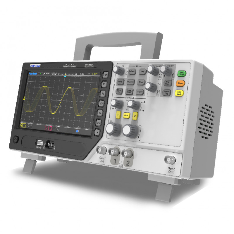 Hantek DPO6202C Osciloscopio de 2 Canales con 2 Generadores AWG