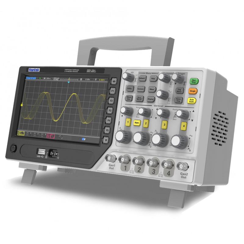 Hantek DPO6084C Osciloscopio de 4 Canales 80Mhz con 2 Generadores AWG