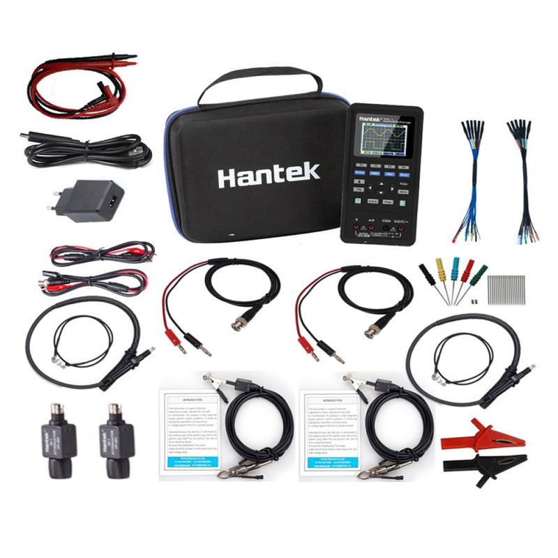 Hantek 2D82AUTO Mini Osciloscopio Portátil para Automoción KIT AVANZADO