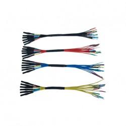 Hantek HT306 Juego de cables puente de 6 vias (0.6 / 1.5 / 2.3 / 2.8 mm)